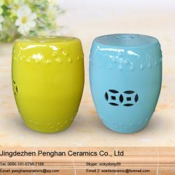 China Jingdezhen Color Glazed Ceramic Stool