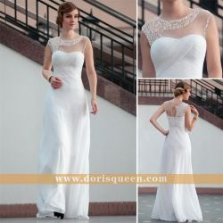Lace Floor Length Sexy White Semi Formal Dress