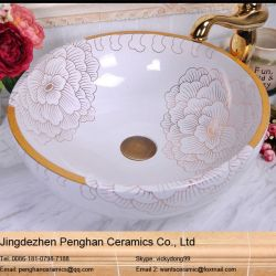 Jingdezhen Countertop Ceramic Basin