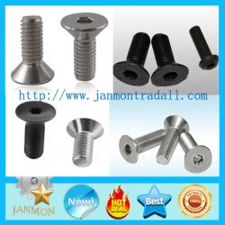 Black Hexagon Socket Countersunk Screw
